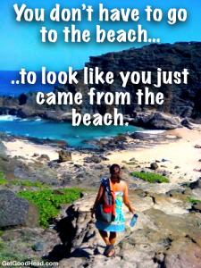 sea salt spray for beach looking hair